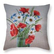 Summer Flower Throw Pillow