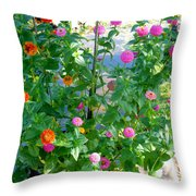 Summer Flowers 13 Throw Pillow