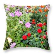 Summer Flowers 3 Throw Pillow