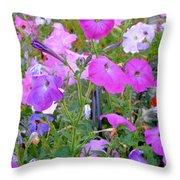 Summer Flowers 8 Throw Pillow