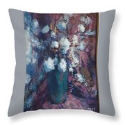Vase Of Cotton Throw Pillow