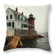 Summer Fog Throw Pillow