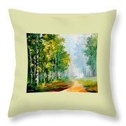 Summer Forest Throw Pillow