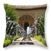 Summer Fountain Throw Pillow