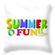 Summer Fun01a Throw Pillow