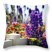 Summer Garden 1 Throw Pillow