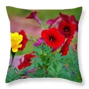 Summer Garden Throw Pillow