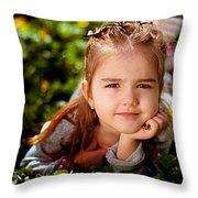 Summer Girl Throw Pillow
