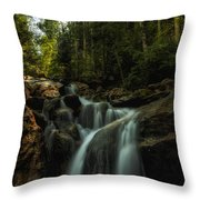 Summer Glow On The Falls Throw Pillow