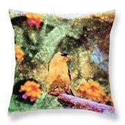 Summer Goldfinch - Digital Paint 5 Throw Pillow