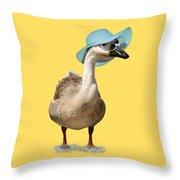 Summer Goose Throw Pillow