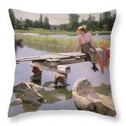 Summer Throw Pillow by Gunnar Berndtson