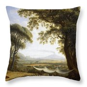 Summer Harvest On Caserta Plain Throw Pillow