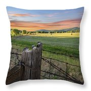 Summer Hay Bales  Throw Pillow