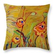 Summer Hibiscus Flower Throw Pillow