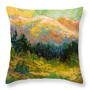 Summer High Country Throw Pillow