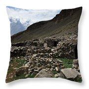 Summer Hut Throw Pillow