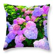 Summer Hydrangeas #2 Throw Pillow