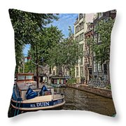 Summer In Amsterdam-1 Throw Pillow