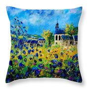 Summer In Foy Notre Dame  Throw Pillow