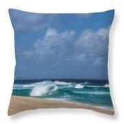 Summer In Hawaii - Banzai Pipeline Beach Throw Pillow