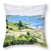 Summer In Lunenburg Harbour Throw Pillow