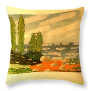 Summer In Maine Throw Pillow