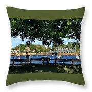 Summer In Marblehead, Ma Throw Pillow