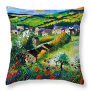 Summer In Rochehaut Throw Pillow