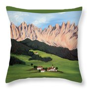 Summer In Switzerland Throw Pillow