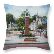 Summer In The Square Throw Pillow