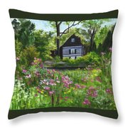 Summer In Waterford Throw Pillow