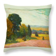 Summer Landscape By John William Beatty Throw Pillow
