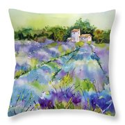 Summer Lavender Throw Pillow
