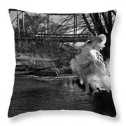 Summer Leap Throw Pillow