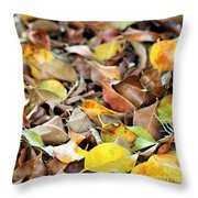 Summer Leaves For Fall Throw Pillow