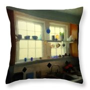 Summer Light In The Kitchen Throw Pillow