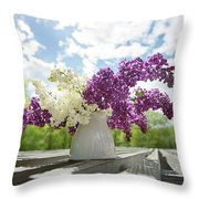 Summer Lilacs Throw Pillow