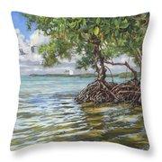Summer Mangrove Melody Throw Pillow