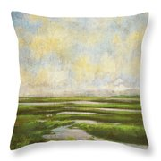 Summer Marsh Throw Pillow
