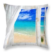Summer Me Iv Throw Pillow