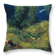 Summer Meadow Throw Pillow