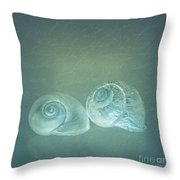 Two Seashell Reflections Throw Pillow