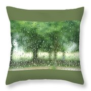 Summer Mist Throw Pillow