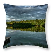 Summer Morning At The Dock Throw Pillow