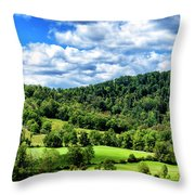 Summer Morning Meadow And Ridge Throw Pillow