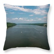 Summer Morning View Over The Hudson Throw Pillow