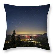 Summer Night South Lake Tahoe Throw Pillow
