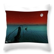 Summer Nights In Florida Throw Pillow