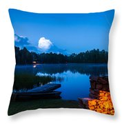Summer Nights On The Pond Throw Pillow